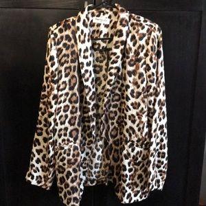 Cheetah Print Blazer with pockets